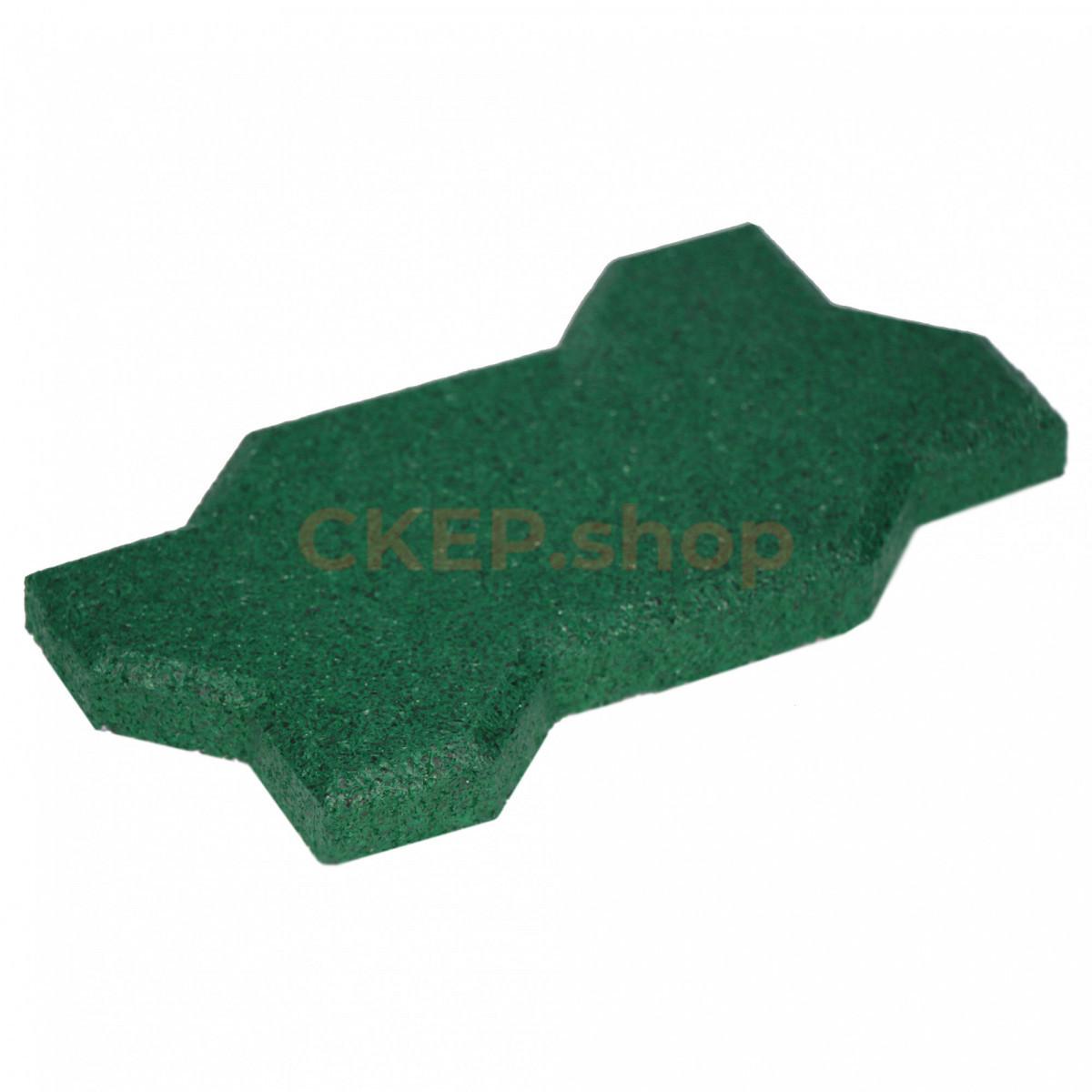 Резиновая брусчатка Волна, 20 мм, зеленая