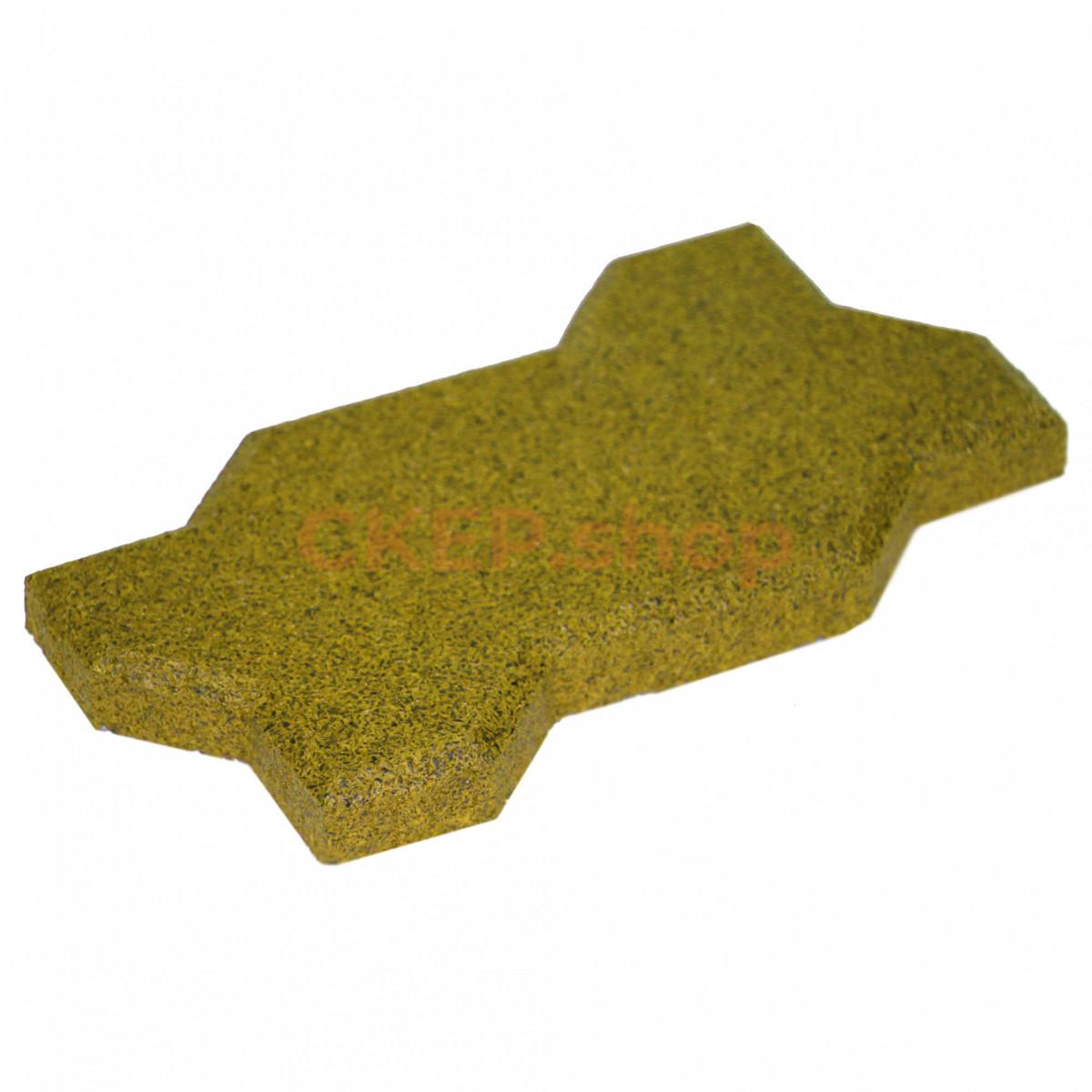 Резиновая брусчатка Волна, 20 мм, желтая