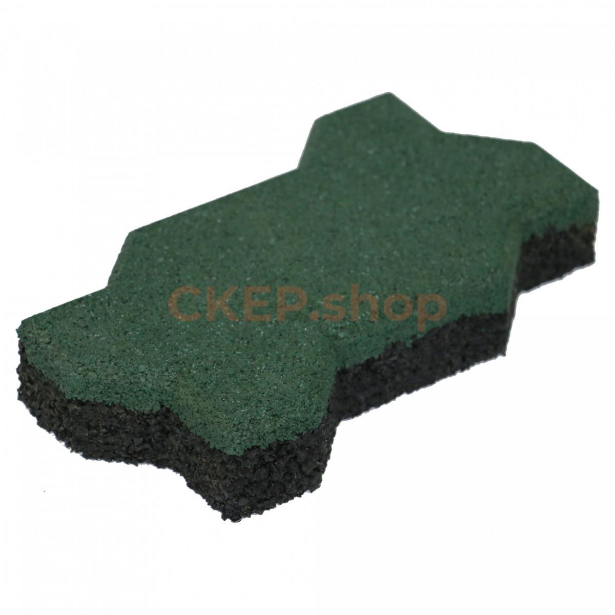 Брусчатка резиновая Волна, 40 мм, зеленая