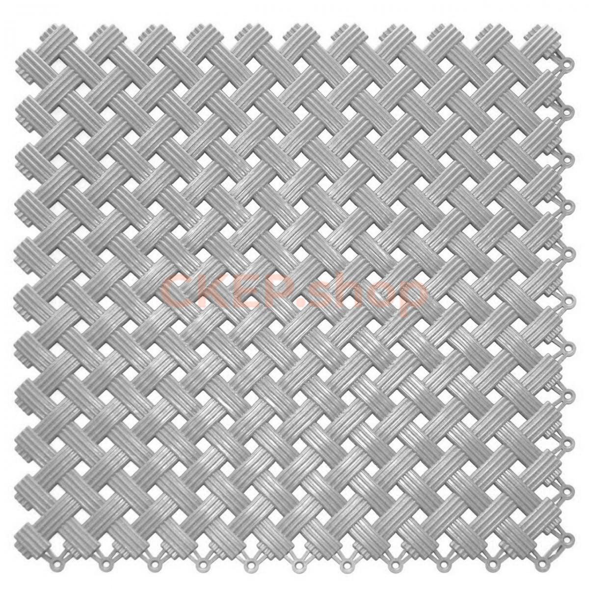 Покрытие модульное Аква, 340х340х9 мм, серое