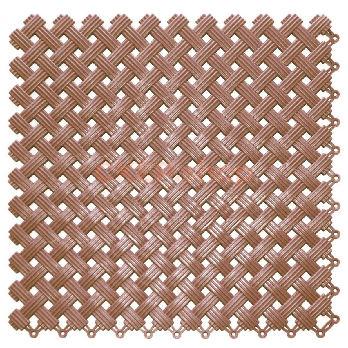 Покрытие модульное Аква, 200х200х8,5 мм, коричневое