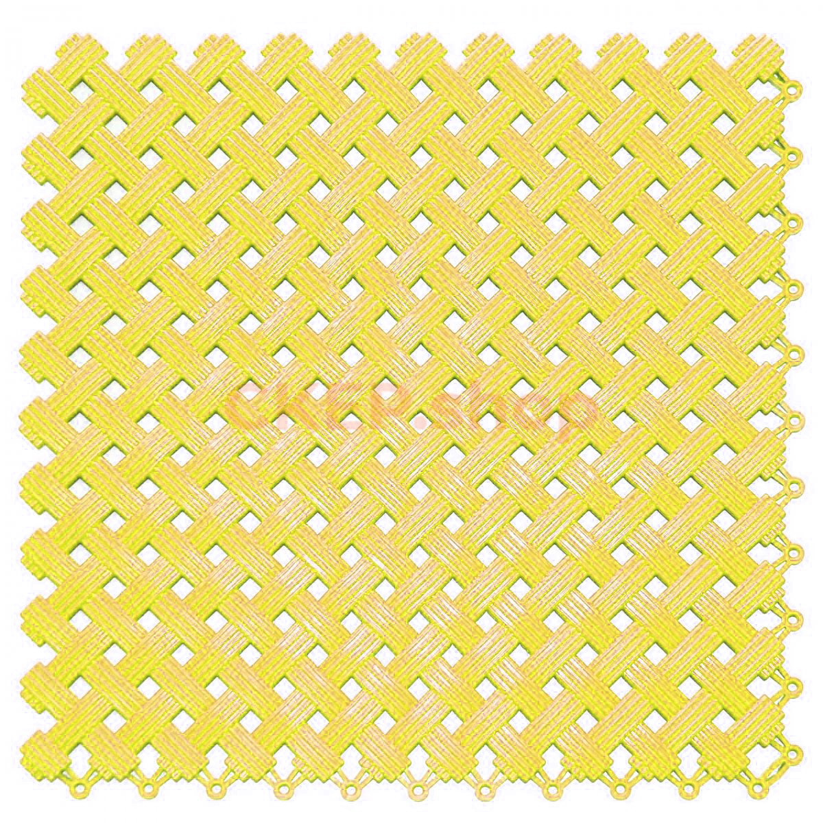 Покрытие модульное Аква, 340х340х9 мм, желтое