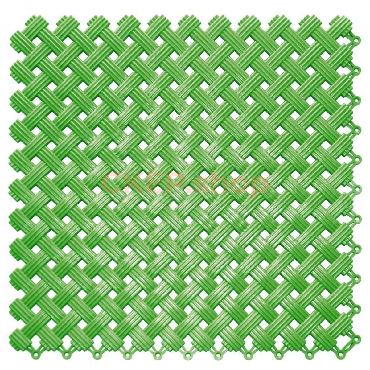 Покрытие модульное Аква, 340х340х9 мм, зеленое