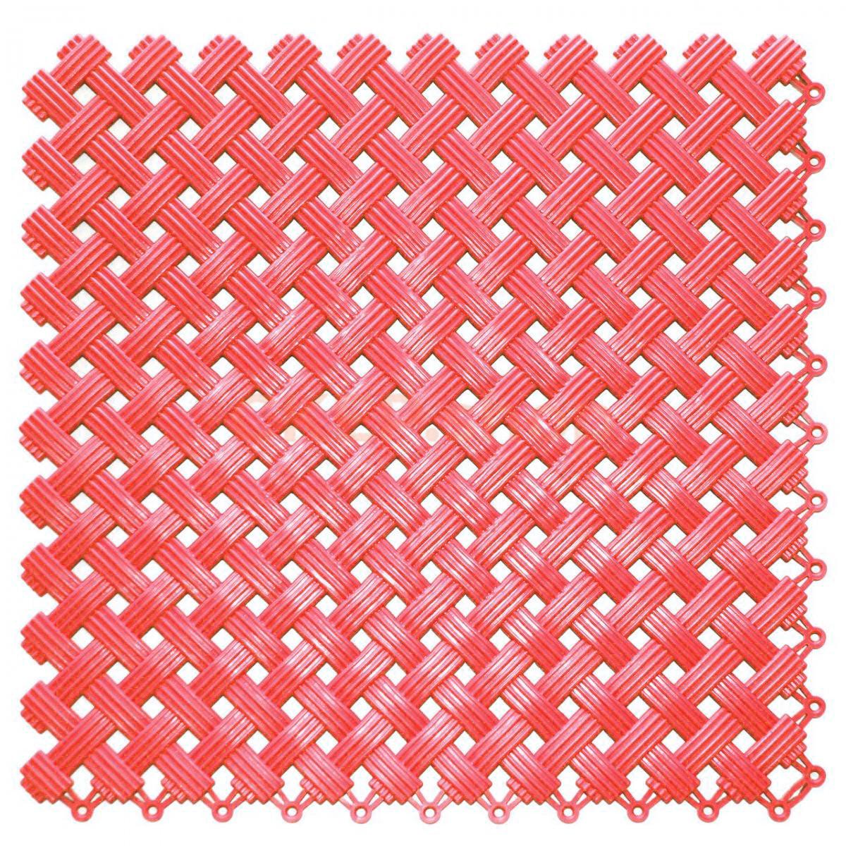 Покрытие модульное Аква, 200х200х8,5 мм, красное
