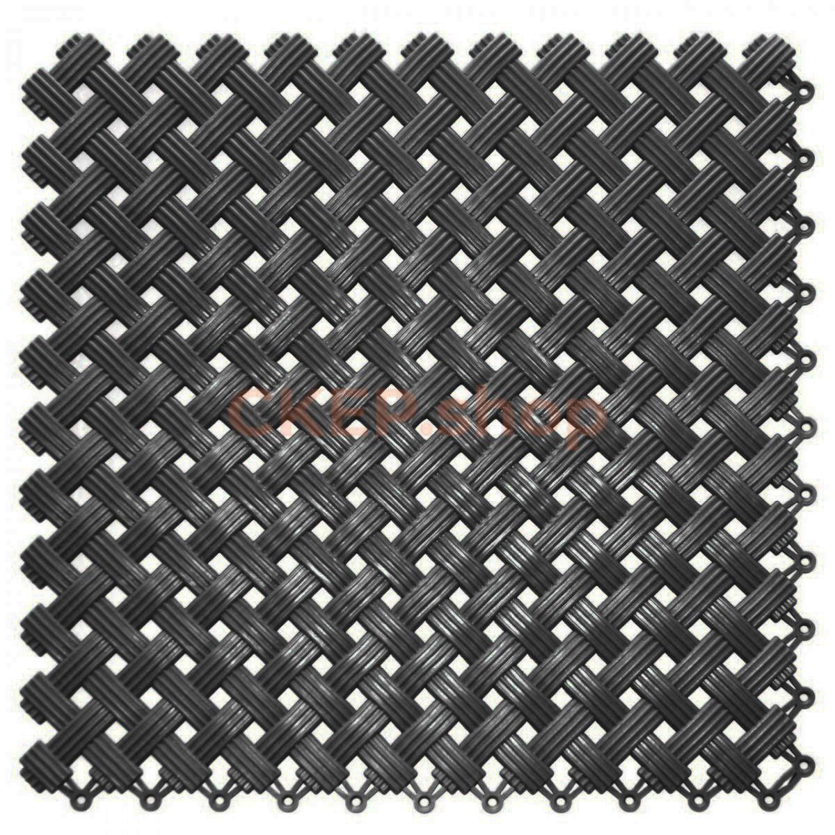 Покрытие модульное Аква, 340х340х9 мм, черное