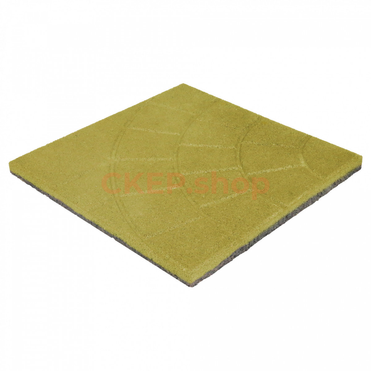 Резиновая плитка 350х350х30, паутинка, желтая