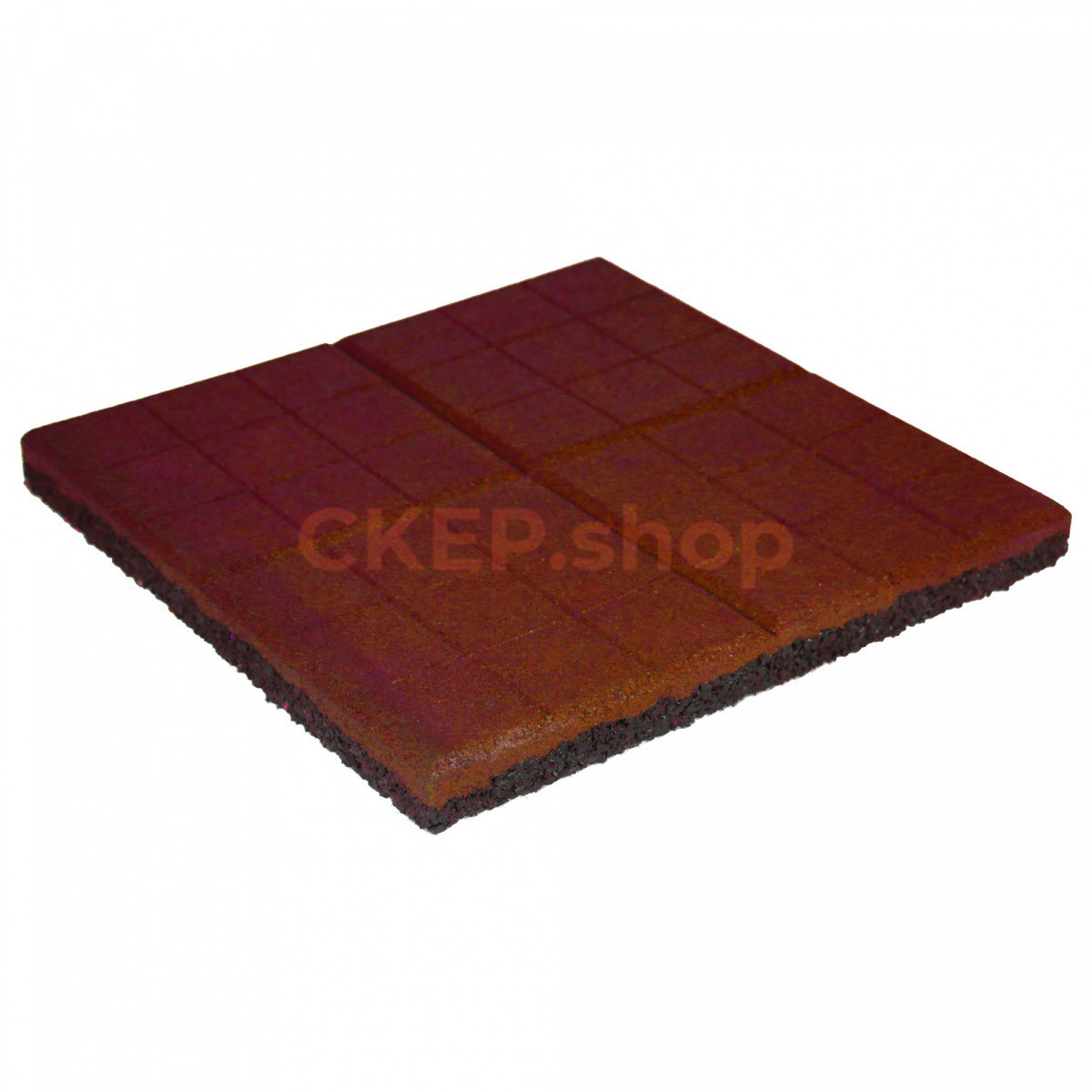 Резиновая плитка 350х350х30, сетка, терракотовая
