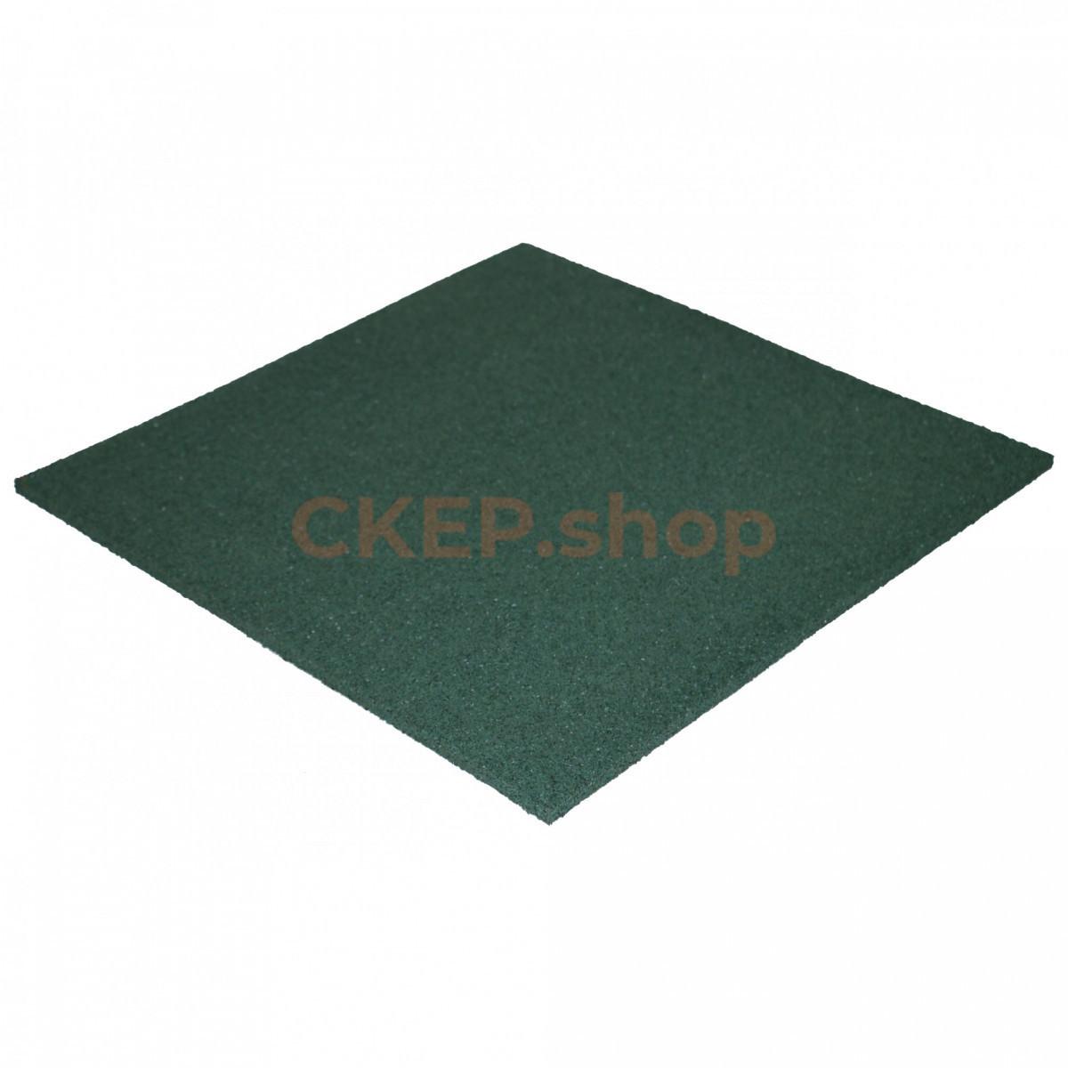 Резиновая плитка 500х500х10, зеленая
