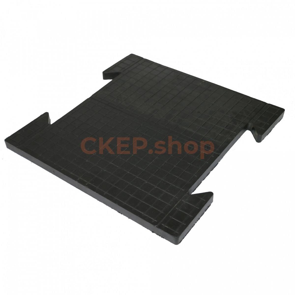 Резиновая плитка модульная 500х500х25 мм, технопол, черная