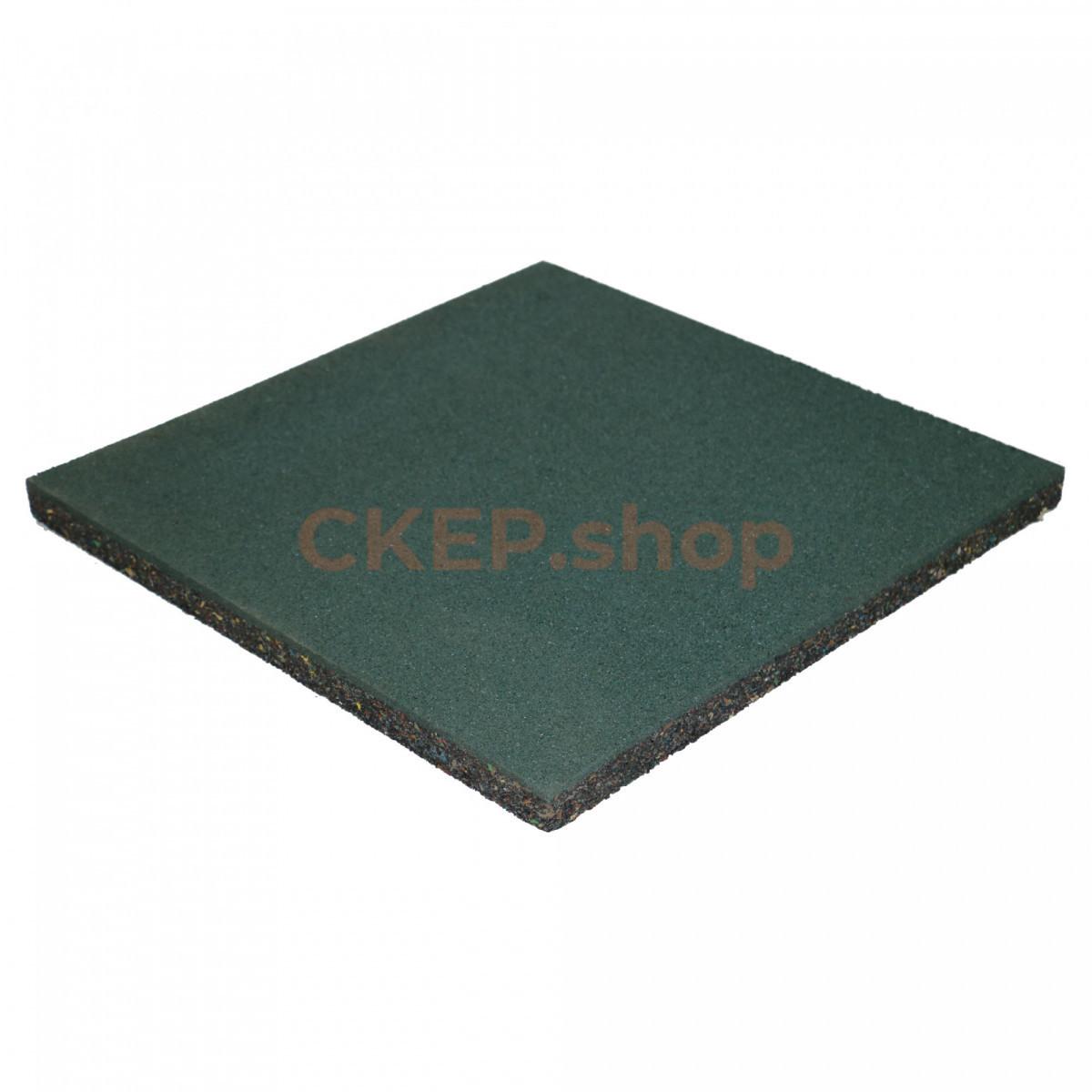 Резиновая плитка 500х500х30, зеленая