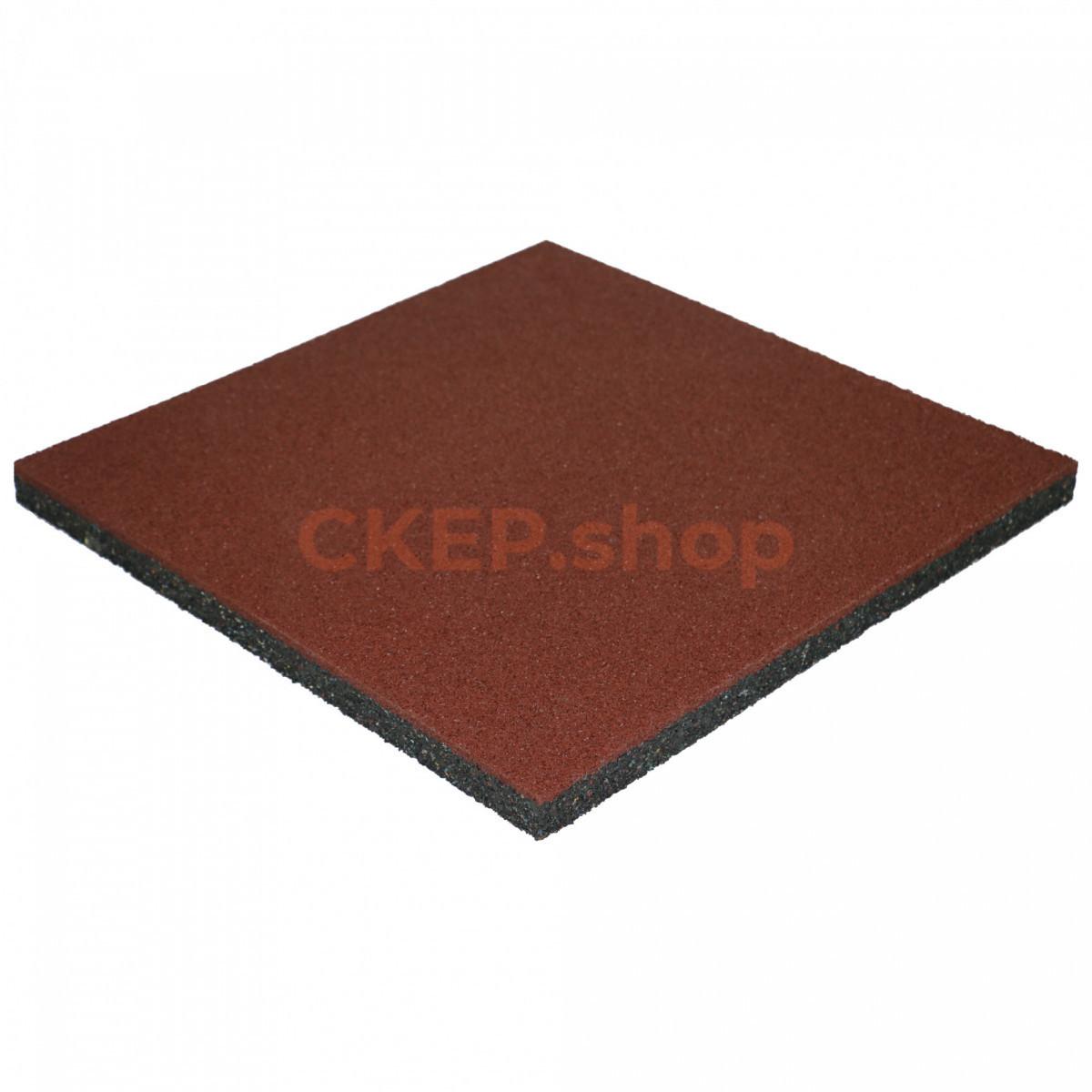 Резиновая плитка 500х500х30 мм, терракотовая