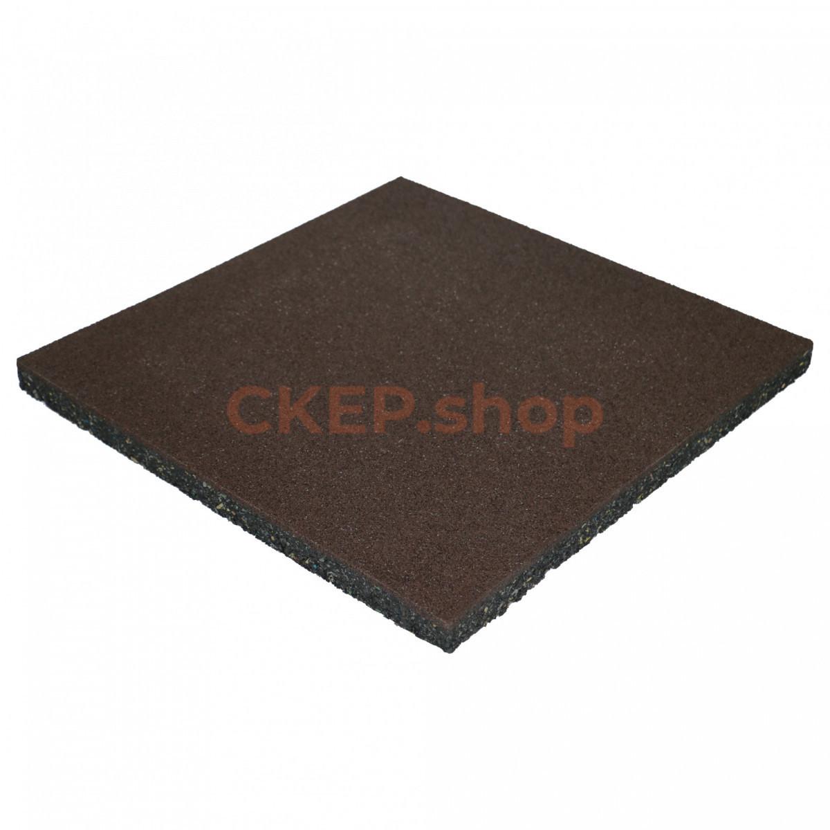 Резиновая плитка 500х500х30 мм, коричневая