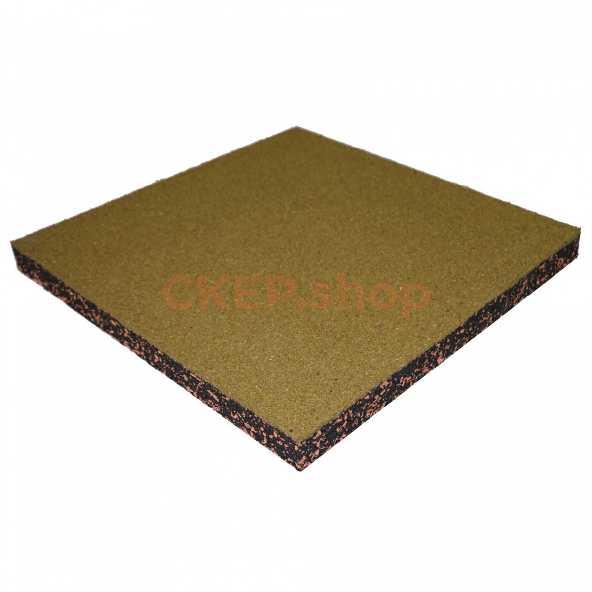 Резиновая плитка 500х500х40 мм, желтая