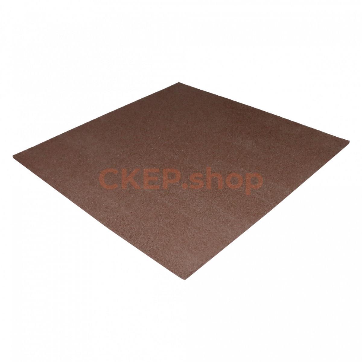 Резиновая плитка 1000х1000х16, коричневая