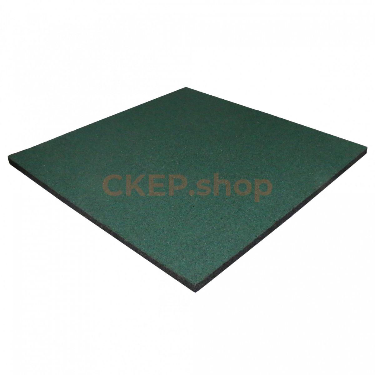 Резиновая плитка 1000х1000х30 мм, зеленая