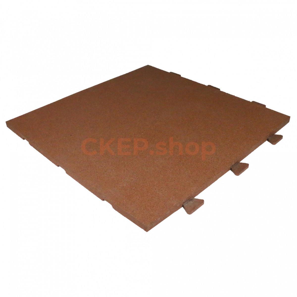 Резиновая плитка 1000х1000х30, со скрытым крепление ласточкин хвост, оранжевая