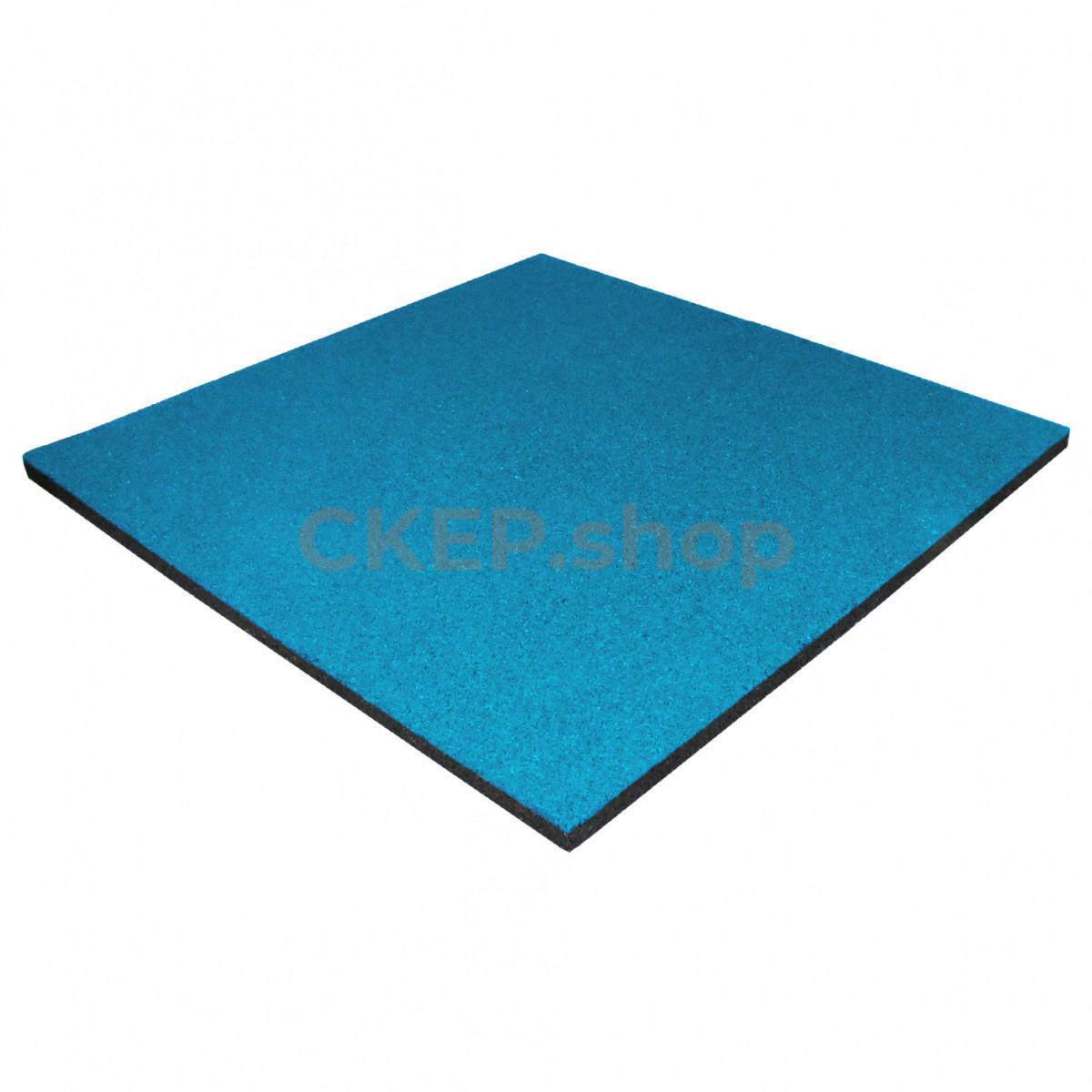 Резиновая плитка 1000х1000х30, голубая
