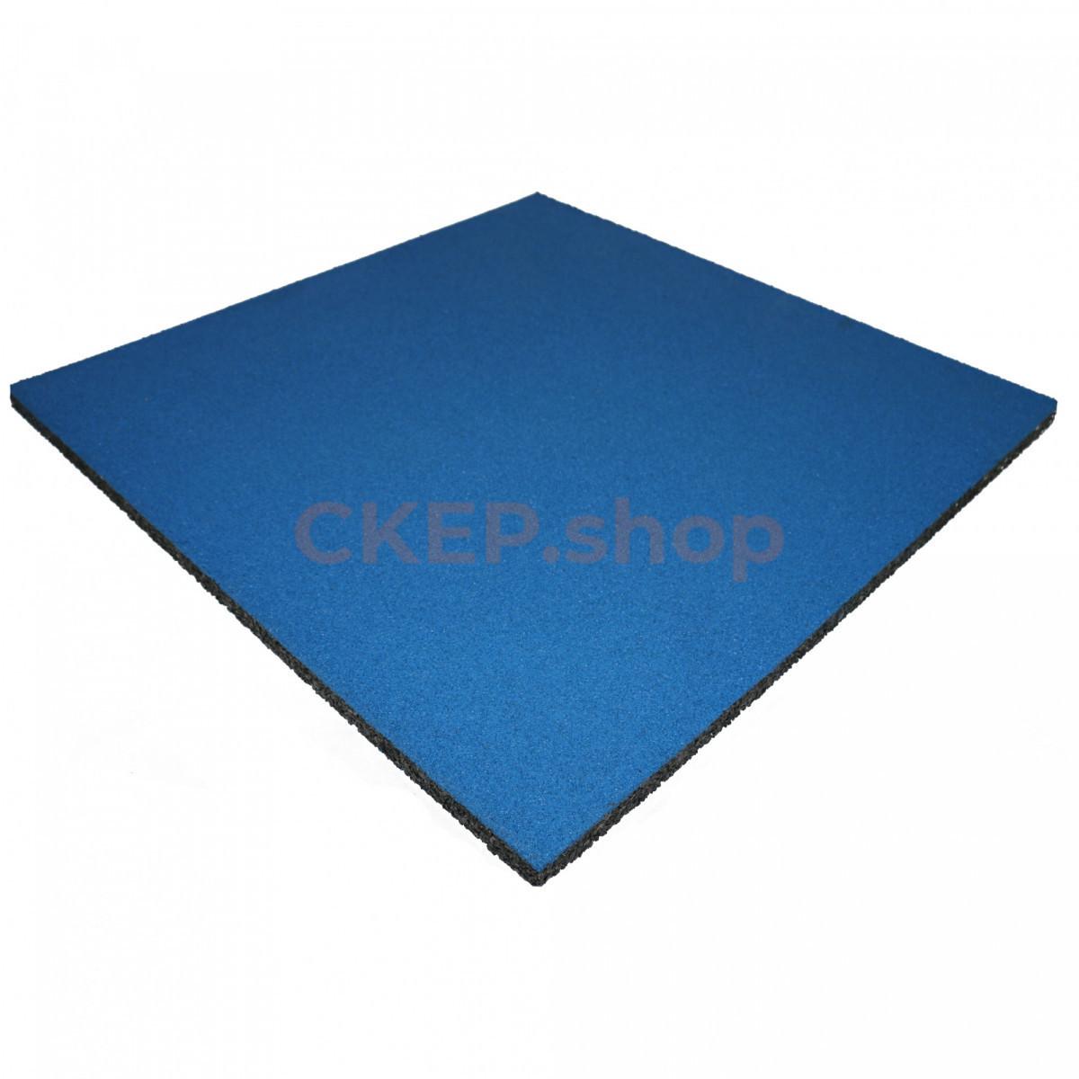 Резиновая плитка 1000х1000х30 мм, синяя