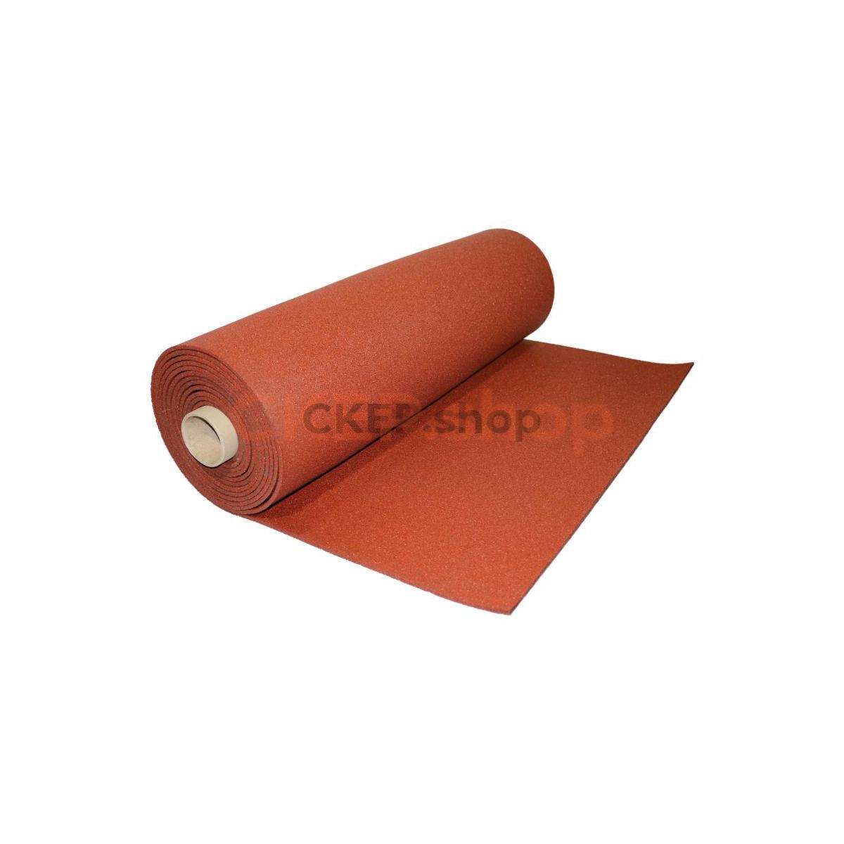 Покрытие из резиновой крошки рулонное SBR 100%, 900 кг/м3, 8 мм, терракот