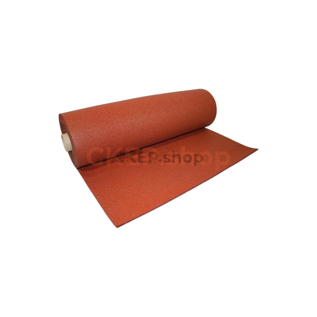 Покрытие резиновое рулонное SBR 100%, 900 кг/м3, 8 мм, терракот