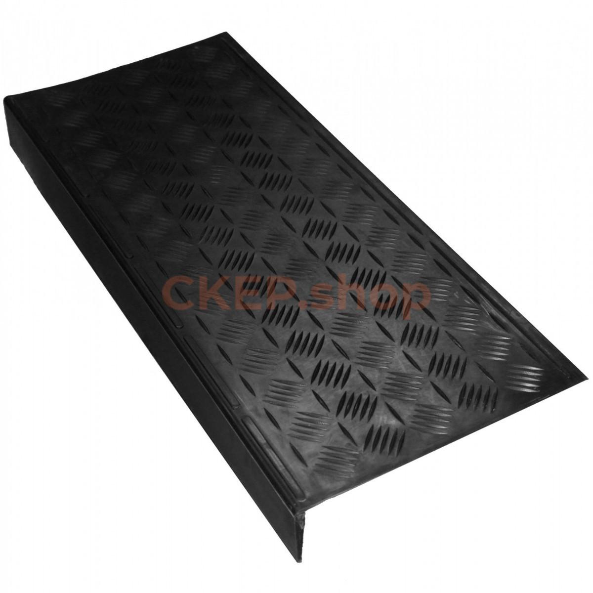 Противоскользящая накладка на ступень 750х305х71 мм, Косой рубчик, черная